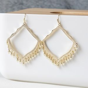 Kendra Scott Lacy Fringe Earrings in Gold New